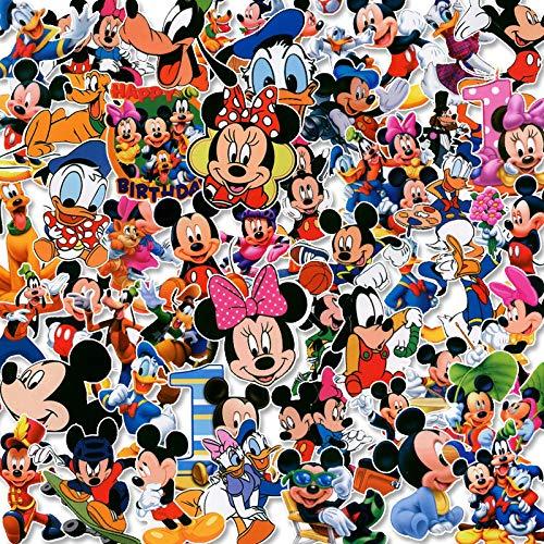 WUWEI Etiqueta engomada de la Maleta de Mickey Mouse Minnie Etiqueta engomada del Tesoro de Carga del teléfono de la Maleta