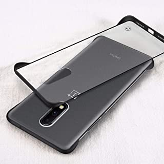 Amozo Frameless Series - Transparent Ultra Slim with Camera Protection OnePlus 6T Cases and Covers (Frameless Case - Black)