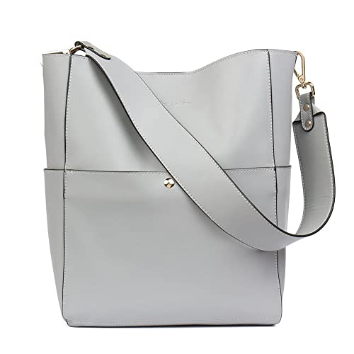 9052f27d5ec1 BOSTANTEN Women s Leather Designer Handbags Tote Purses Shoulder Bucket Bags