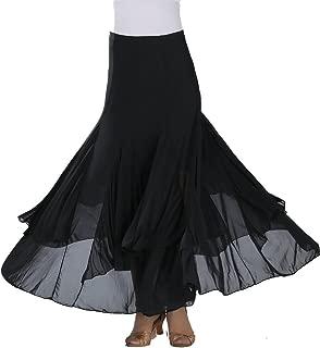 Waltz Dancing and Ballroom Dance Long Swing Skirt Elastic Net Yarn