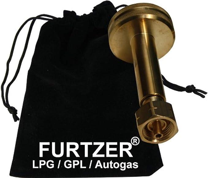 Adaptador de depósito de gas LPG GPL Acme, adaptador largo con bolsa de plástico