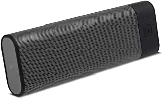 KitSound BoomBar+ Portable Wireless Speaker with Hands-Free Call Function and Carry Pouch, Gun Metal