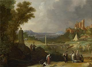 Oil Painting 'Bartholomeus Breenbergh The Finding Of The Infant Moses By Pharaoh's Daughter ' Printing On Polyster Canvas , 20 X 28 Inch / 51 X 70 Cm ,the Best Foyer Decor And Home Artwork And Gifts Is This Cheap But High Quality Art Decorative Art Decorative Canvas Prints