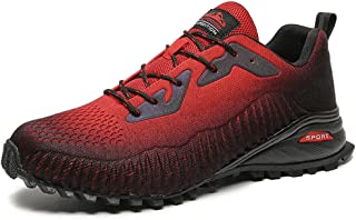 Outdoor Breathable Sneakers Casual Shoes,Mountaineering shoes men's shoes, large size hiking shoes outdoor hiking boots-Bl...