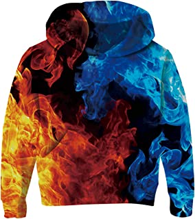 Unisex Sweatshirt Kids Hoodies 3D Print Pullover Clothes with Pocket for 3-14T
