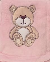 Snugly Baby Embroidered Bear Ultra Soft Blanket ~ Pink