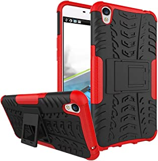 OPPO F1 Plus Case, Hybrid Armor Design Detachable and Stand-up Feature Dual Layer Protective Shell Hard Back Cover Case for OPPO F1 Plus - Red