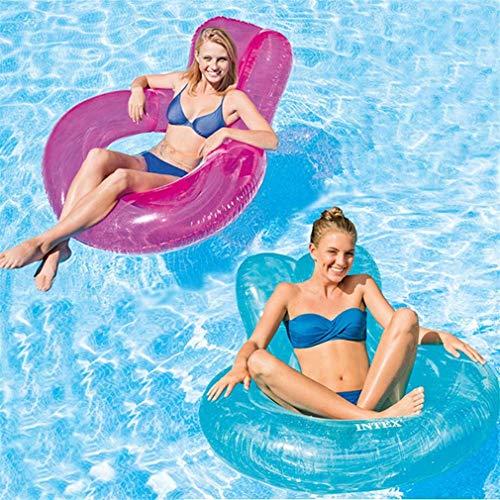 Kyman Verano Piscina Flotante del Anillo Fila Cama Flotante for Nadar Agua...