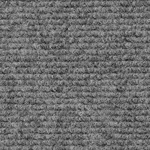 House, Home and More Indoor Outdoor Carpet with Rubber Marine Backing - Gray - 6 Feet x 10 Feet