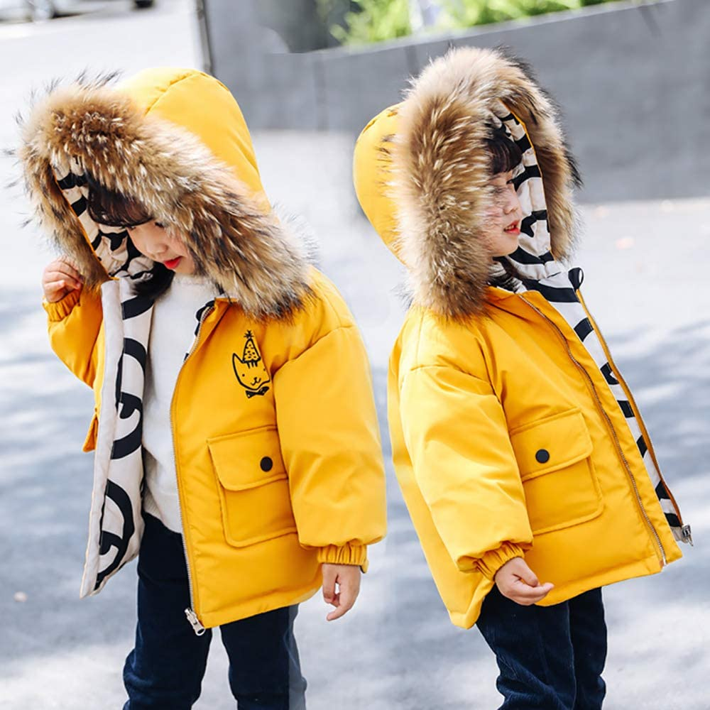WANGCY Doudoune Fille,Doudoune Enfant Fille Vêtements De Protection pour Enfants Protection Contre Le Vent Traitement Anti-perçage Fermeture À Glissière Coupe-Vent Double Face Noir