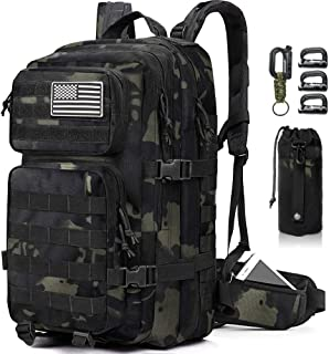 EMDMAK Military Tactical Backpack, 35L Large Military Pack Army 3 Day Assault Pack Molle Bag Rucksack for Outdoor Hiking C...