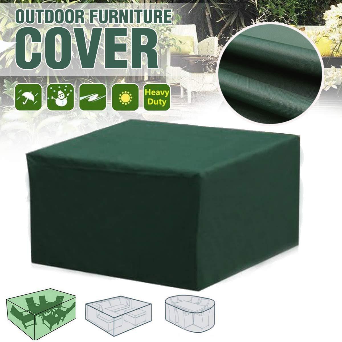 SUNDUXY Verde Funda para Muebles de Jardín,Copertura Impermeable para Mesas Rectangular,Cubierta de Exterior Funda Protectora Muebles Mesas Sillas Sofás Exterior Oxford,213x132x70cm: Amazon.es: Hogar