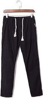 Men's Casual Slim Linen Hose Pant Solid Trousers Trousers Solid Breathable Pants Plus Size g3