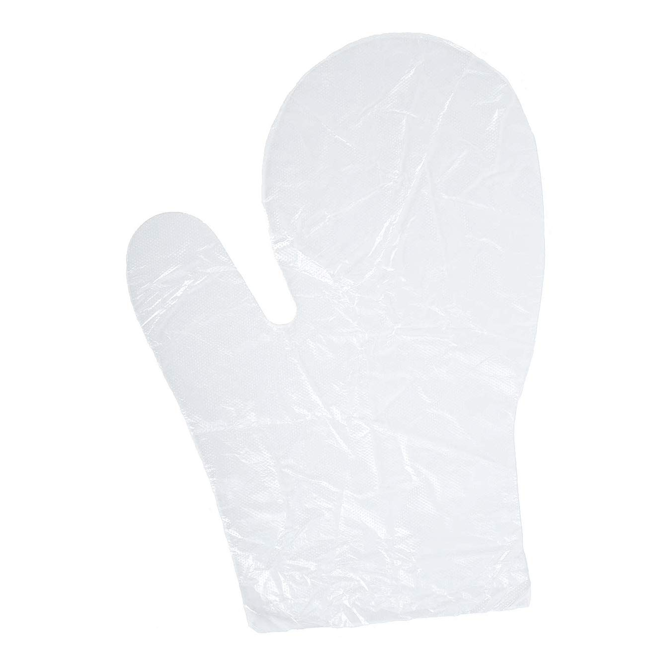 Daxwell Poly Mitts (Not Gloves), Embossed, One Size Fits All, Clear, F10003429 (Case of 5,000, 10 Boxes of 500)