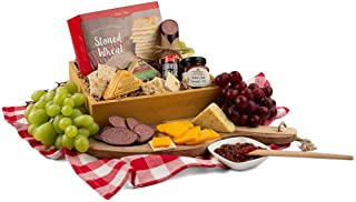 GreatArrivals Gift Baskets Gift Baskets Cheese & Meat Sampler: Gourmet Gift Crate,, ()