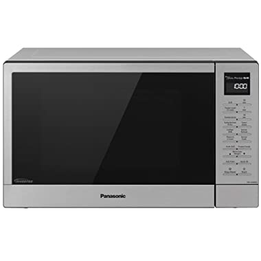 Panasonic NN-GN68KS Countertop Microwave Oven with FlashXpress, 2-in-1 Broiler, Food Warmer, Plus Genius Sensor Cooking– 1.1 cu. ft, Stainless Steel/Silver