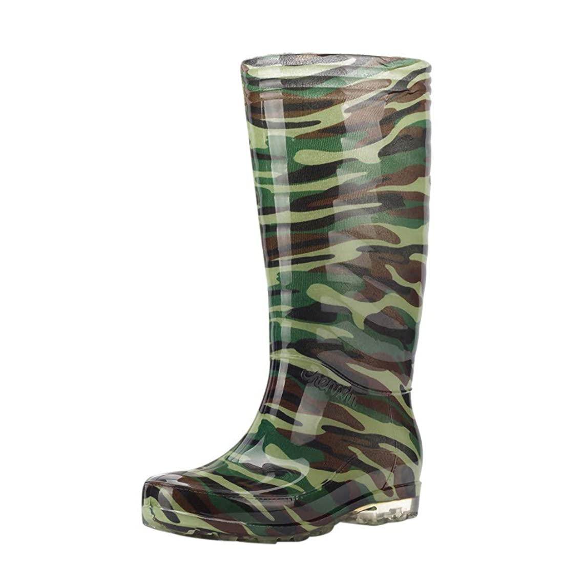 Men's Leisure Camouflage Flat - Round Toe Shoes Waterproof High Cylinder Rain Boot,2019 New