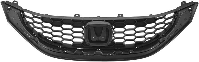 CarPartsDepot 2013 Honda Civic Sedan Front Upper Grille Molding Chrome Plastic Trim EX LX