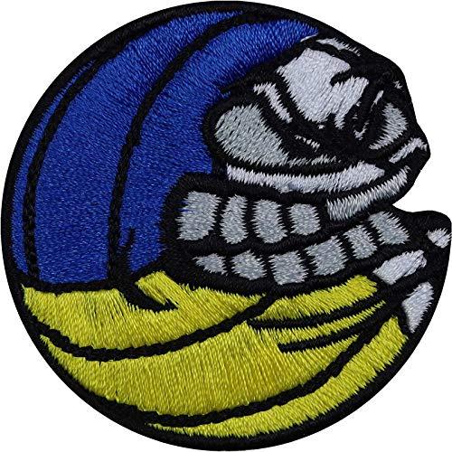 Parche: Angry Balls Volleyball Sport Patch divertido parche termoadhesivo para coser o planchar fan del voleibol Club Aplicación para chaquetas / camisetas / vaqueros / bolsas de deporte 50 x 50 mm