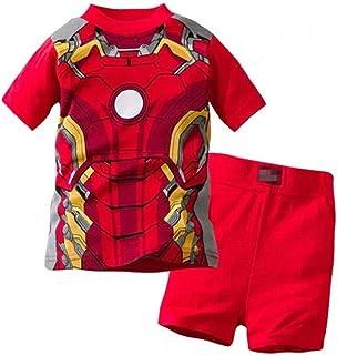 Iron Man Pajama Set for Kids 2-7 Years Short Sleeve