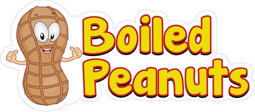 送料無料 一部地域を除く Food Truck Decals Boiled Peanuts トラスト Die-Cut Restaurant Concession V