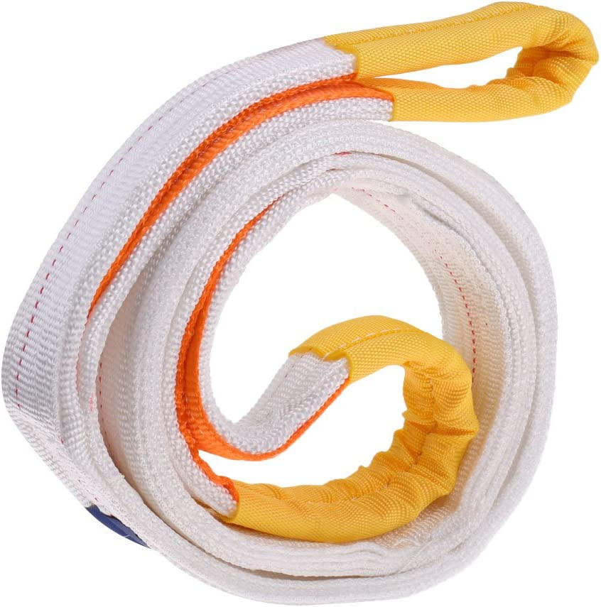 CUTICATE Heavy Duty Tree Saver Tow Strap Towing Pull Rope Cable Road