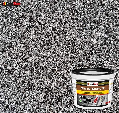 BP30 Coloured Stone Plaster Mosaic Plaster (Black, Grey, White) 15 kg Absolute Professional Quality
