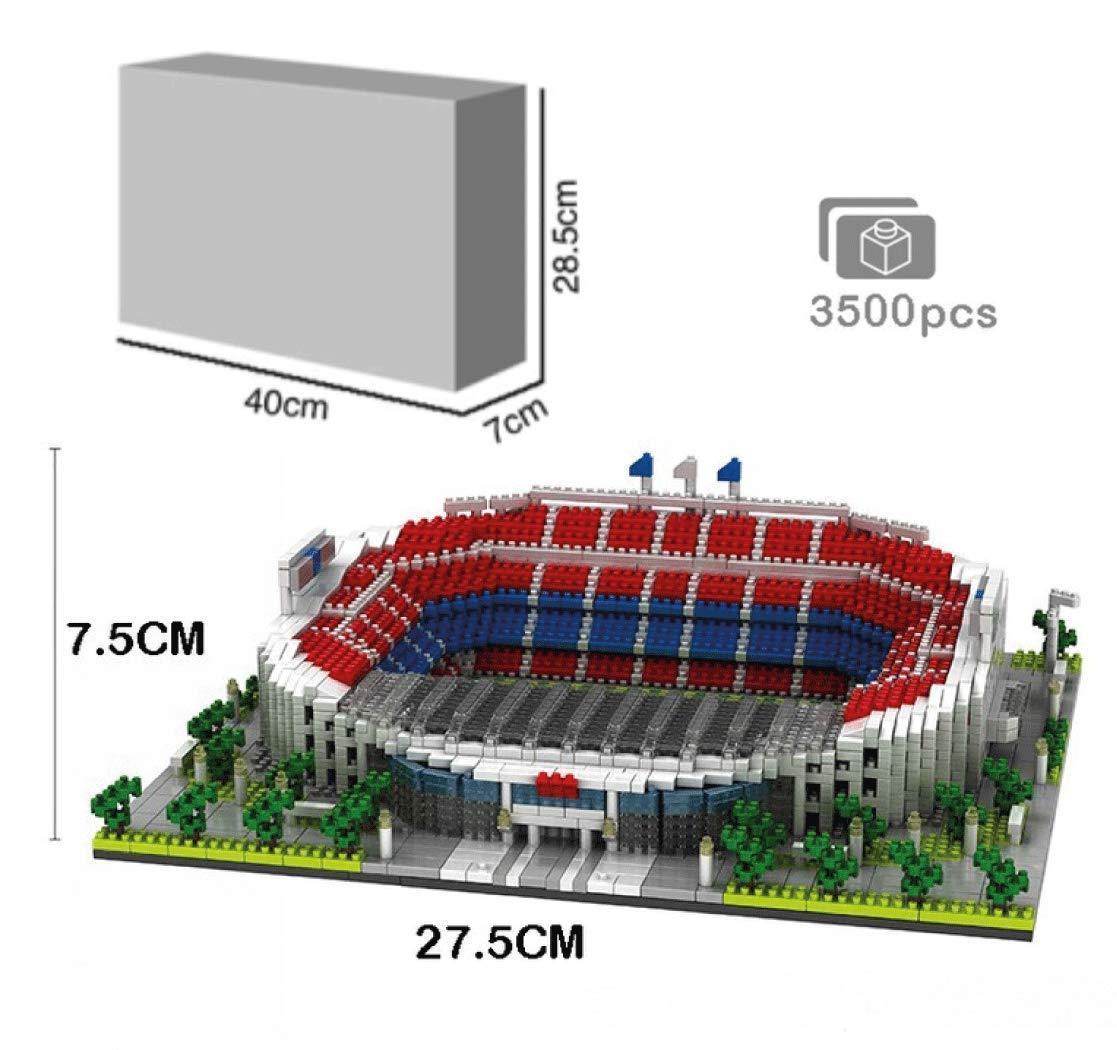 Atomic Building Estadio Camp NOU del Fútbol Club Barcelona. Modelo para armar con nanobloques. Más de 3500 Piezas: Amazon.es: Juguetes y juegos