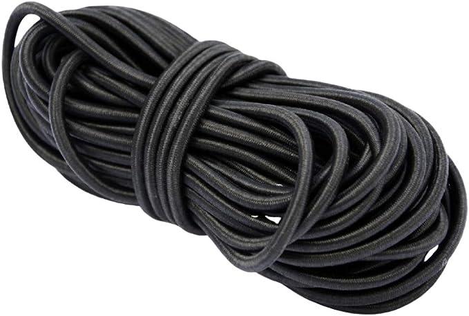 con cierre de mosquet/ón Cord/ón joyas banda 2 x 2 mm Negro 2 lineas collar de cuerda de goma de 3mm