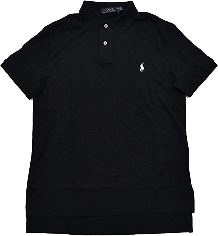 Ralph Lauren Polo Men's Big & Tall Soft Interlock Shortsleeve Shirt, Black (LT)
