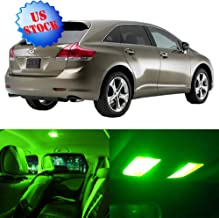 SCITOO Interior LED Lights Green Replacement for 2009-2015 Toyota Venza Accessories Package Kit 14Pcs
