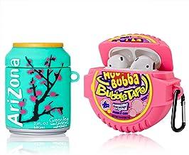 [2Pack] Cute Airpod Case for Airpod 2/1,3D Cartoon Kawaii Food Bubble Gum & Drink Airpods Cover Design Girl Boys Teens Fas...