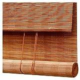 T5S6 Bambus Rollos venezianischer Jalousien Vorhang Natürliche Feuchtigkeitsbeständig Shades 85%...
