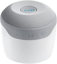 JAM Voice Portable Wifi and Bluetooth Speaker with Amazon Alexa, Stream Music, Pair Multiple Speakers, Rechargeable, Palm Sized, USB Charging Cable, Connect to Home WiFi Network, HX-P590WT White
