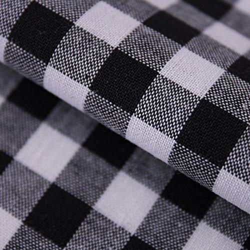 Hans-Textil-Shop Materiał na metry Vichy Karo 1x1 cm bawełna wzór karo w kratkę (czarny)
