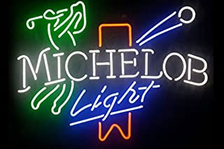 Michelob Light Golf Beer Bar Pub Store Party Room Wall Windows Display Neon Signs 19x15