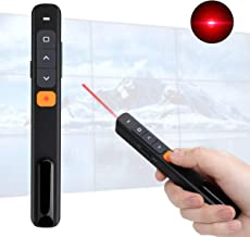 KTPYRP Wireless Presenter, Hyperlink Presentation Clicker Remote Control Pointer with Clip and USB Receiver for Presentation Teaching and Meeting (Black)
