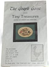 The Graph Goose Tiny Treasures Bless This House Counted Cross Stitch Kit
