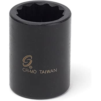 Sunex 220m 1//2-Inch Drive 20-mm Impact Socket