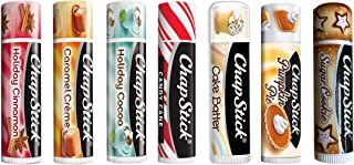 Chapstick Limited Edition Holiday 2017 Set of 7 ~ Sugar Cookie, Pumpkin Pie, Candy Cane, Cake Batter, Caramel Crème, Holiday Cinnamon & Holiday Cocoa