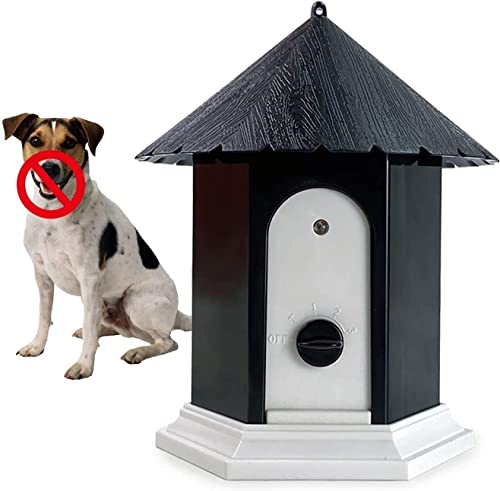Anti Barking Device, Ultrasonic Bark Deterrents, Waterproof Bark Control Device for Outdoor, Up to 50 Feet Range