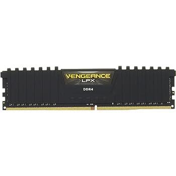 Corsair Vengeance LPX 8GB (1 x 8GB) DDR4 DRAM 2400MHz C16 (PC4-19200) Memory Kit - , Vengeance LPX Black