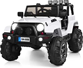 Costzon Ride On Truck, 12V Battery Powered Electric Ride On Car w/ 2.4 GHZ Bluetooth..