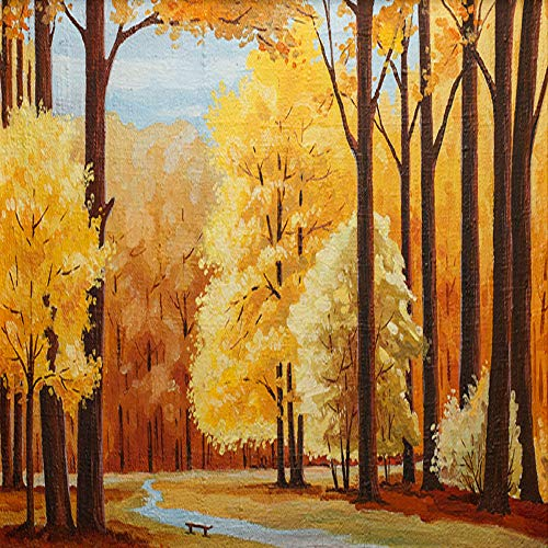 SLQUIET Rahmenlose bunte abstrakte Baum des Lebens Ölgemälde Poster Drucke auf Leinwand Wandkunst Bilder Wohnzimmer Drucke Wandmalereien 60x90cm No Frame