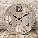 JZDHAOANHE Reloj de Pared, Vintage, Decorativo Vintage Reloj Colgado con Mecanismo Silencioso Decoración para Habitación Dormitorio Oficina Bar,Modern 4