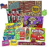 Heavenly Sweets Dulces Veganos Americanos - Selección de Golosinas de EE.UU. - Regalo de Navidad, Cumpleaños, San Valentín - 14 Piezas en Envases Retro