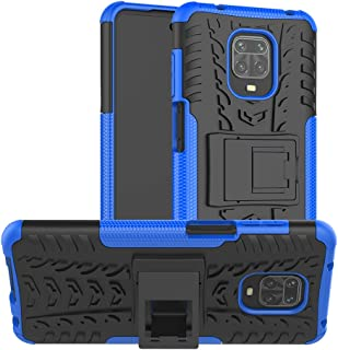 Redmi Note 9 Pro Case, Ikwcase Heavy Duty Armor Tough Hybrid Shockproof Dual Layer Kickstand Protective Case Cover for Xia...