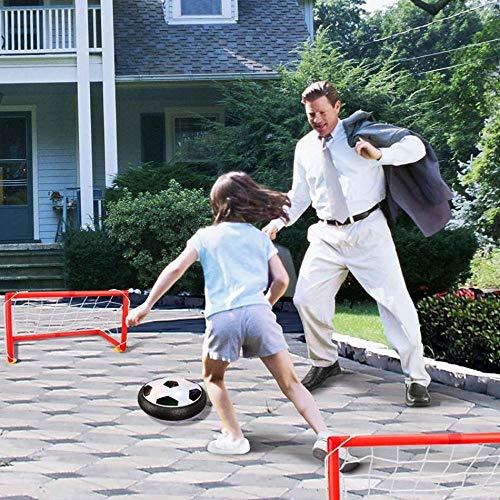 PUJING Levitar suspendido Balón de fútbol Cojín de Aire Espuma Flotante GOL de fútbol con luz LED Música Fútbol Interior Diversión Deportes Niños Juguetes-01