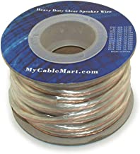 MyCableMart Speaker Wire, 50ft, 14AWG Copper Enhanced Loud Oxygen Free