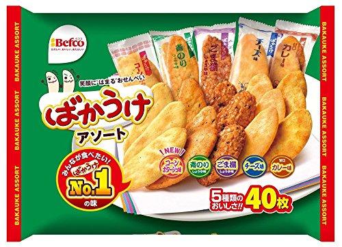 栗山米菓 ばかうけアソート 40枚入×2袋セット